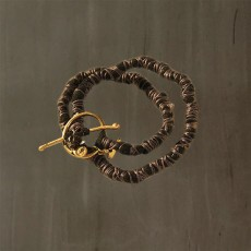 SNAKE VERTEBRAE LEATHER BRACELET