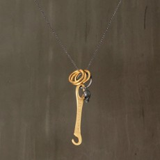 KNITTING TOOL PENDANT NECKLACE